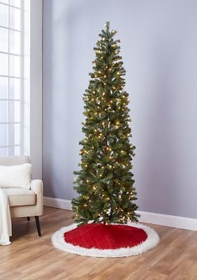 Joyland 7 Foot Pre Lit Pencil Tree with Metal Stand (Ships Free)