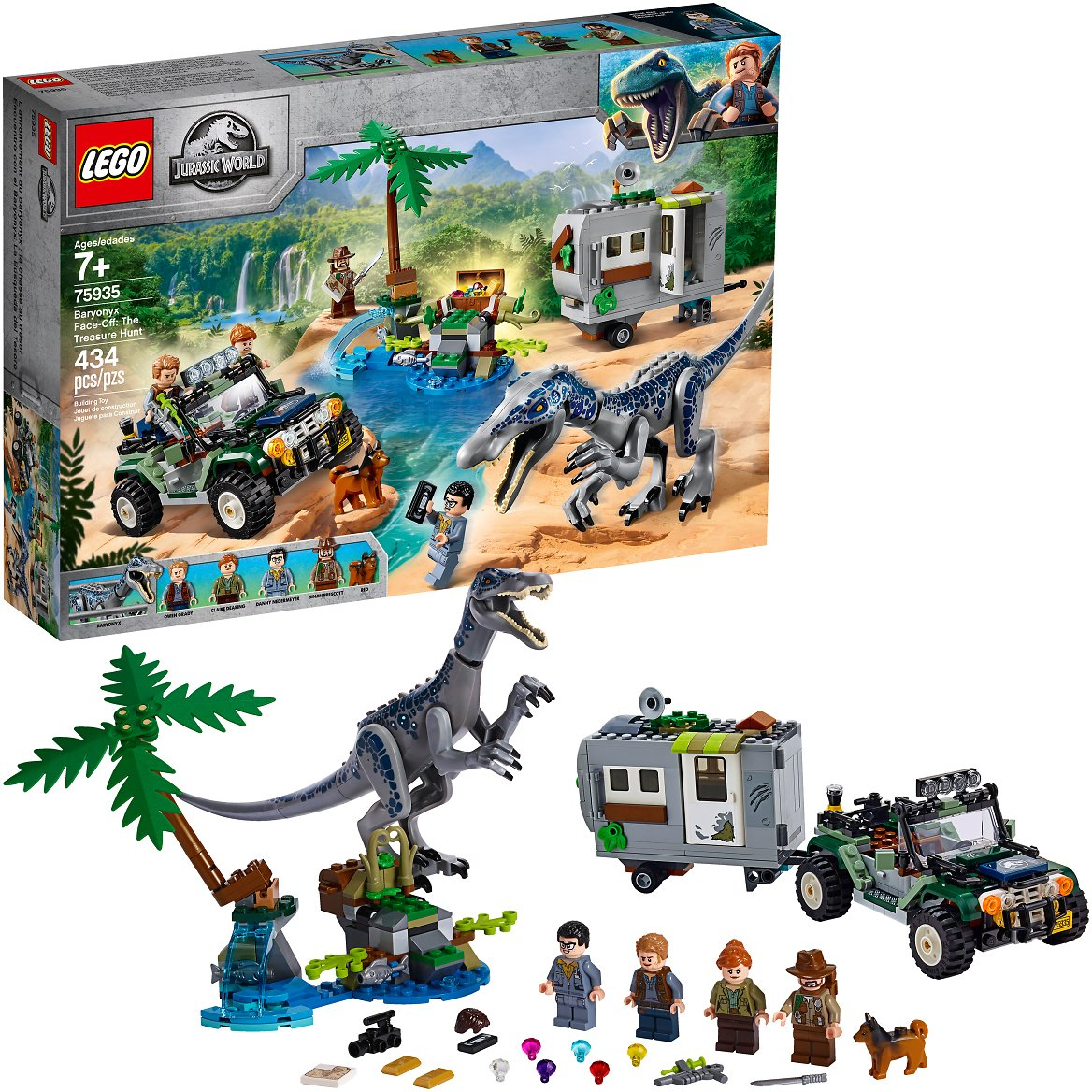 LEGO Jurassic World Baryonyx Face-Off: The Treasure Hunt 75935 (434 Pieces)
