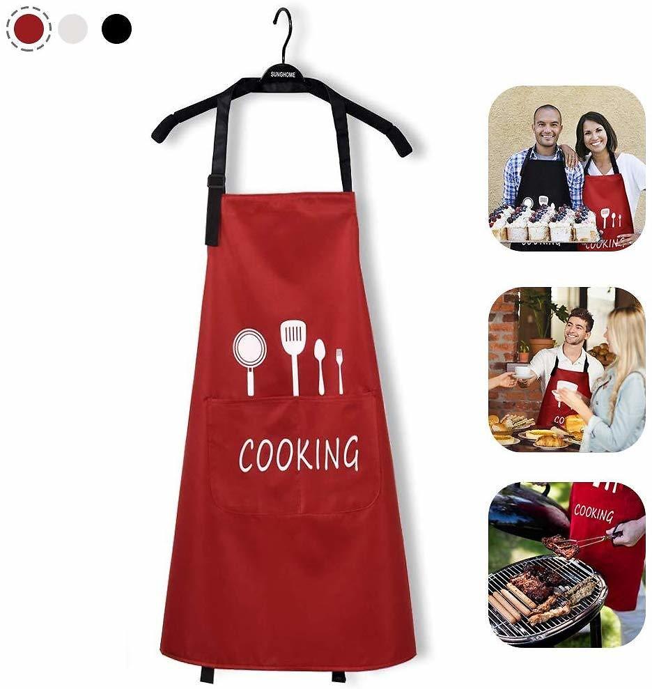 20%OFF Kitchen Aprons For Women Water Resistant With Big Pockets Adjustable