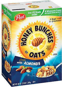 Honey Bunches of Oats Cereal, Almonds, 24 Oz, 2-count