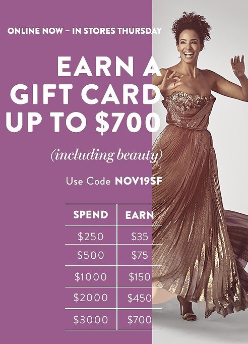 Earn Up To $700 In Saks Gift Card + Free Shipping