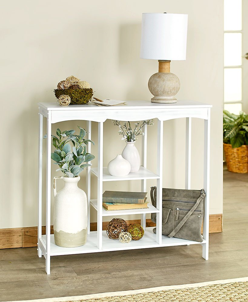 Entryway Console Table with Shelving
