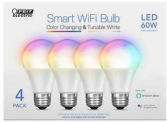 4-Pack Feit Electric Wi-Fi Smart Bulbs