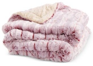 Elle Home Micromink to Faux-Sherpa Throw (3 Colors)