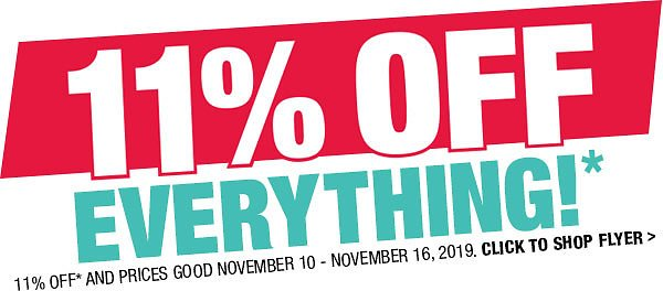 Home At Menards® / 11% OFF Everything Thru November 16, 2019