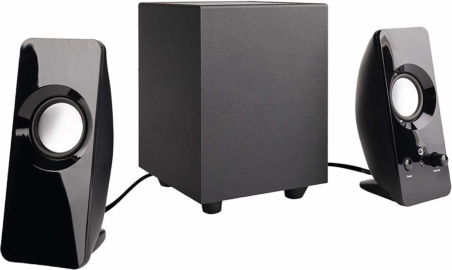 AmazonBasics AC-2.1A 2.1 8W Computer Speakers with Subwoofer