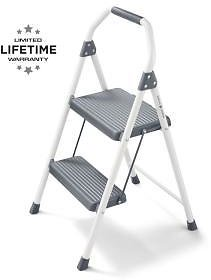 Gorilla Ladders 2-Step Compact Steel Step Stool With, 225 Lbs. Load Capacity Type II Duty Rating-GLS-2CS-2