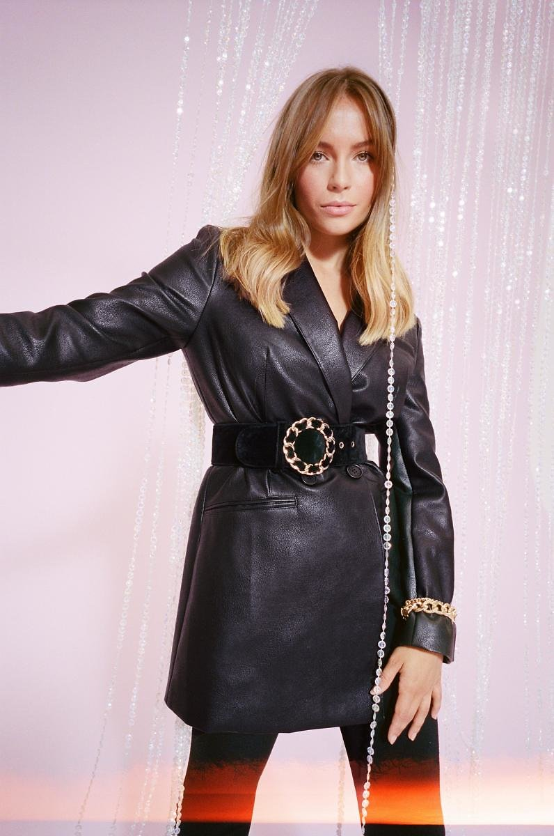 Oversize On The Prize Faux Leather Blazer | Shop Clothes At Nasty Gal!