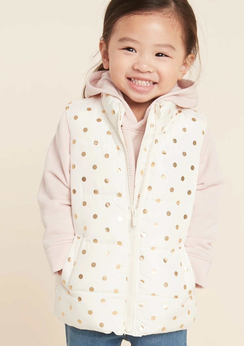 Old Navy Toddler Girls Frost-Free Printed Puffer Vest (2 Colors)