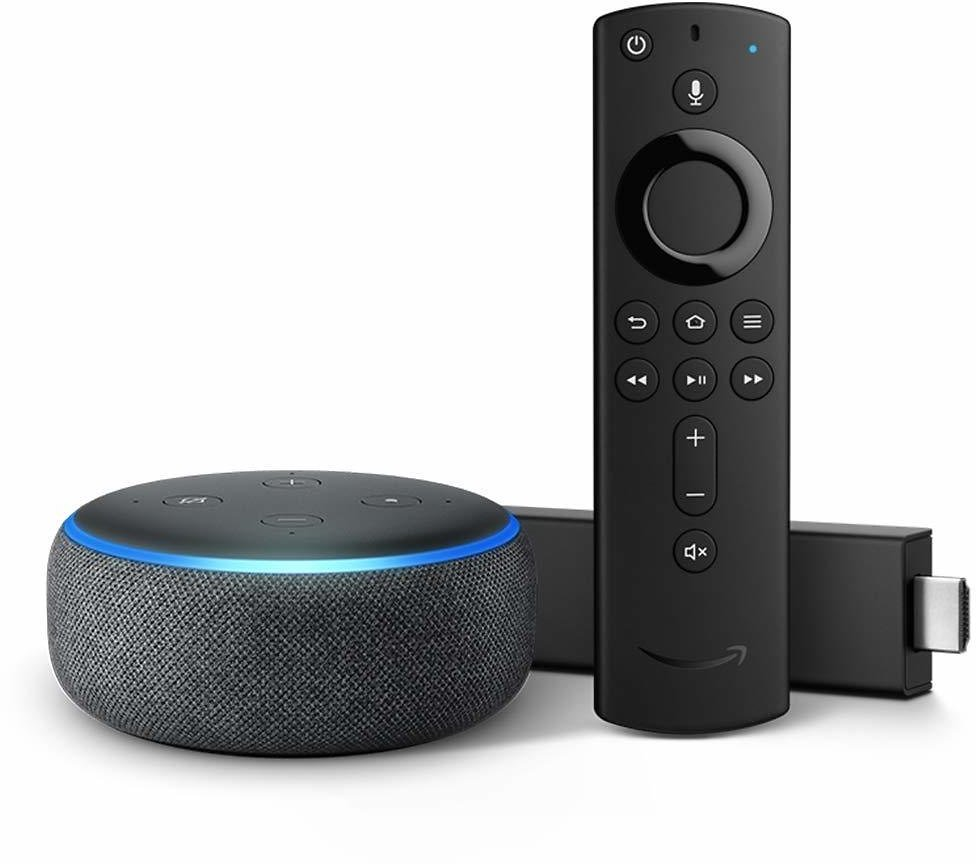 Fire TV Stick 4K Bundle with Echo Dot (3rd Gen) + F/S