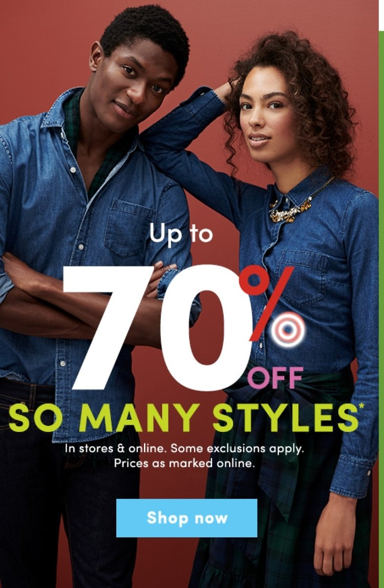 70% Off + Extra 20% off J.Crew Factory - Everyday Deals On Sweaters, Denim, Shoes, Handbags & More