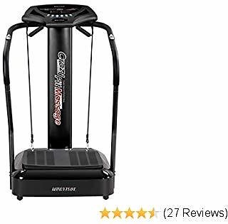 Murtisol Whole Body Fitness Vibration Power Plate with Pulse Rate Grips,Vibration Platform Machine Massage Slim with Resistance Bands