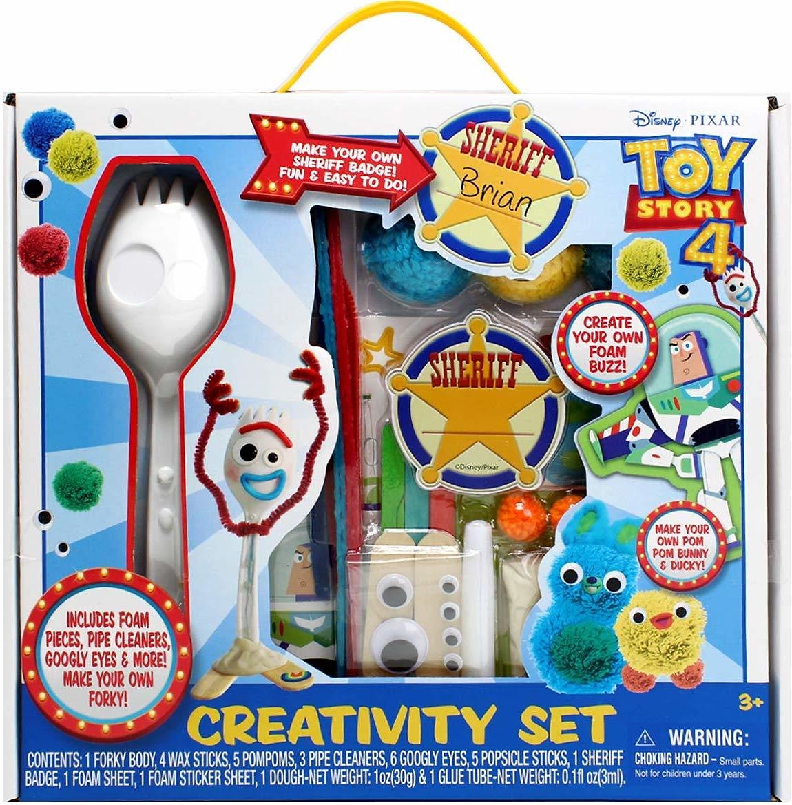Toy Story 4 Craft Creativity Art Set: Make Your Own Forky and Other Characters