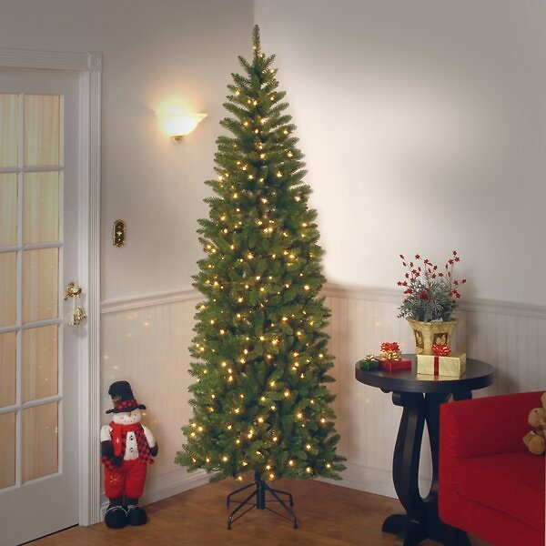Pencil Green Fir Artificial Christmas Tree