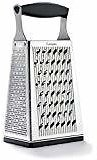 ROJOE Box Grater 4-Sided Stainless Steel Large 10 Inches Grater for Parmesan Cheese, Slice or Zest Vegetables: Kitchen & Dining