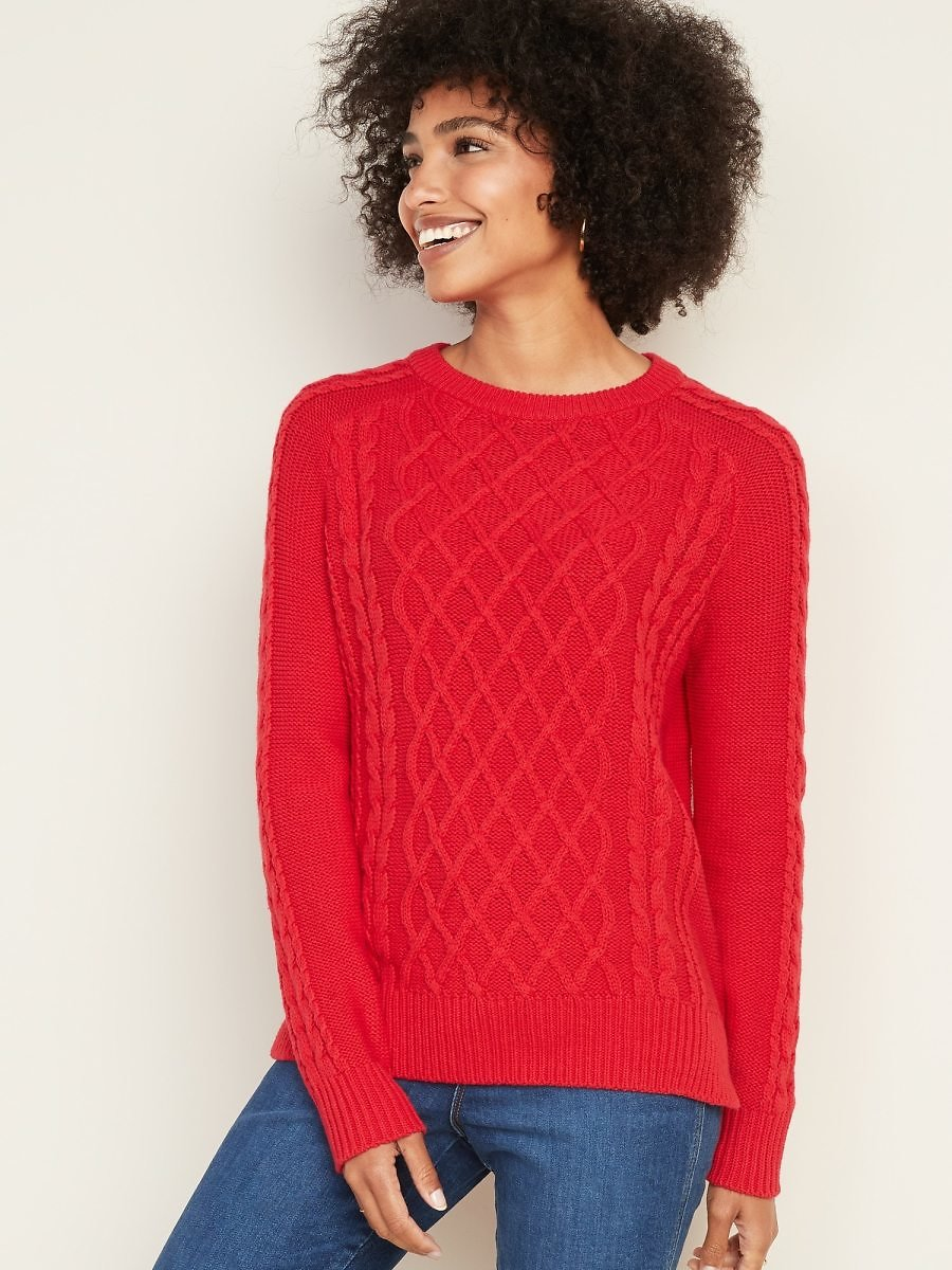 Textured Crew-Neck Sweater for Women | Old Navy
