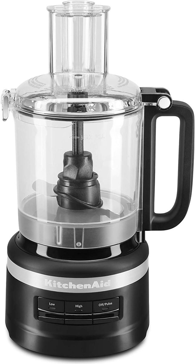 KitchenAid Easy Store Food Processor, 9 Cup, Black Matte