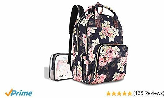 Diaper Bag Backpack, Large Capacity Baby Nappy Changing Bag $23.2
