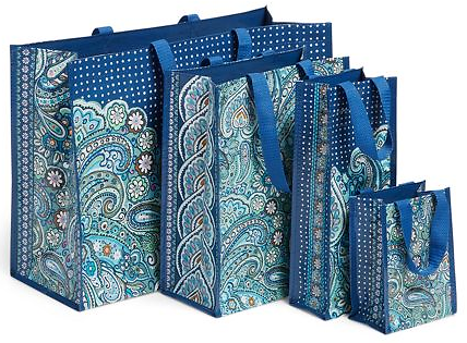 Vera Bradley 4 Pc. Market Tote Set in Seahorse of Course