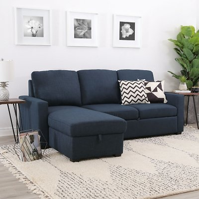 Lincoln Fabric Reversible Storage Sectional