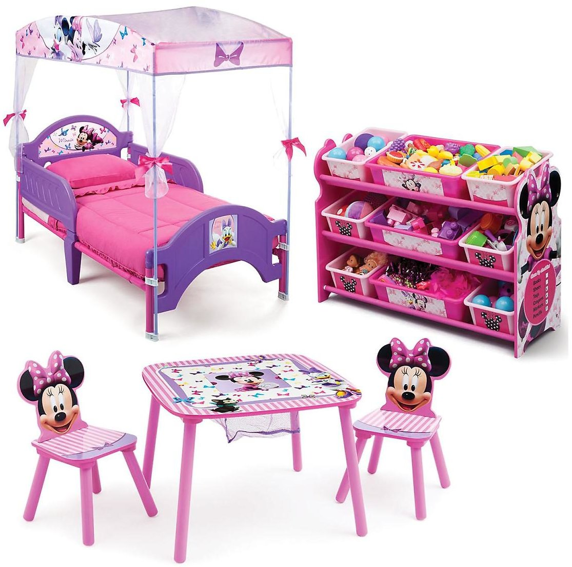 Delta Children Minnie Mouse 3-Piece Toddler Canopy Bedroom Set - Sam's Club