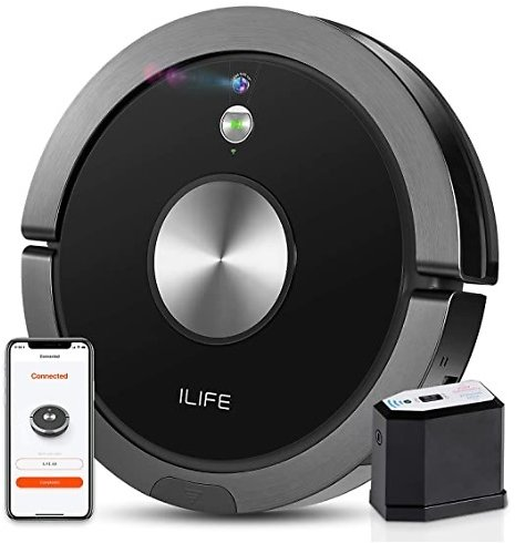 ILIFE A9 Robot Vacuum Cleaner Wi-Fi Connected, Compatible with Alexa