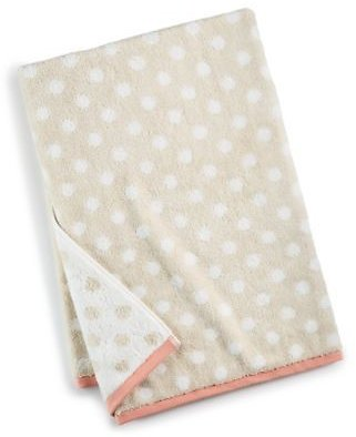 Martha Stewart Collection Cotton Dot Spa Fashion Bath Towel, Created for Macy's & Reviews - Bath Towels - Bed & Bath
