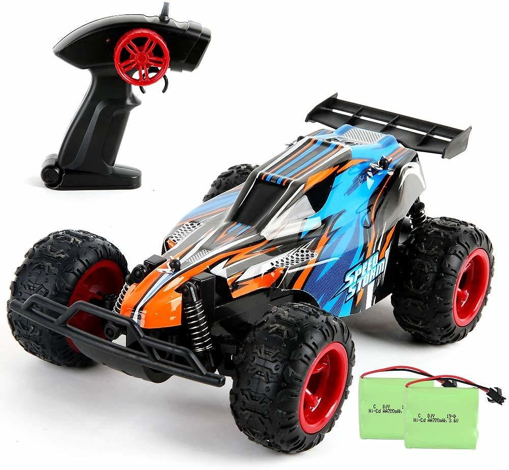 2.4 GHZ 1: 22 High-Speed Racing RC Car with Two Rechargeable Batteries for Kids