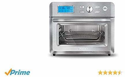 Gourmia GTF7600 16-in-1 Digital Air Fryer Oven - Extra Large Capacity - Glass Viewing Window - Stainless Steel