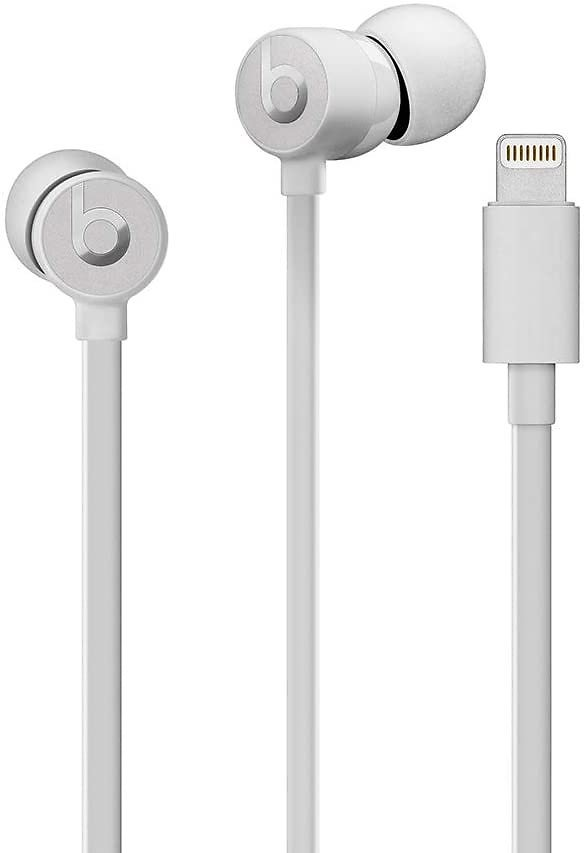 urBeats Wired Earphones With Lightning Connector, Built In Mic And Controls - Satin Silver