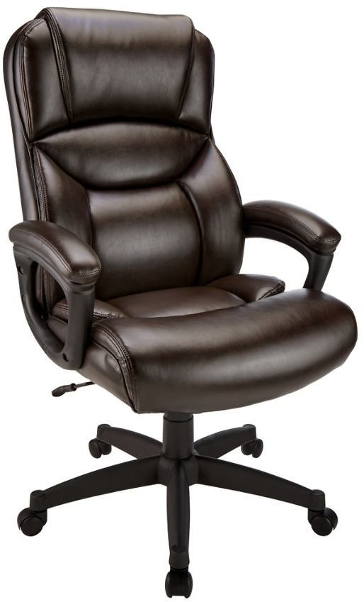 Realspace Leather Executive High-Back Chair