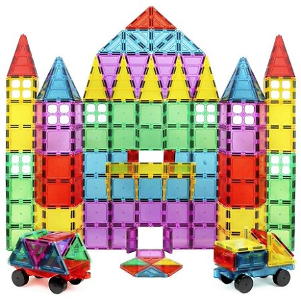 Click N' Play 100-Piece 3D Magnetic Tile Building Set