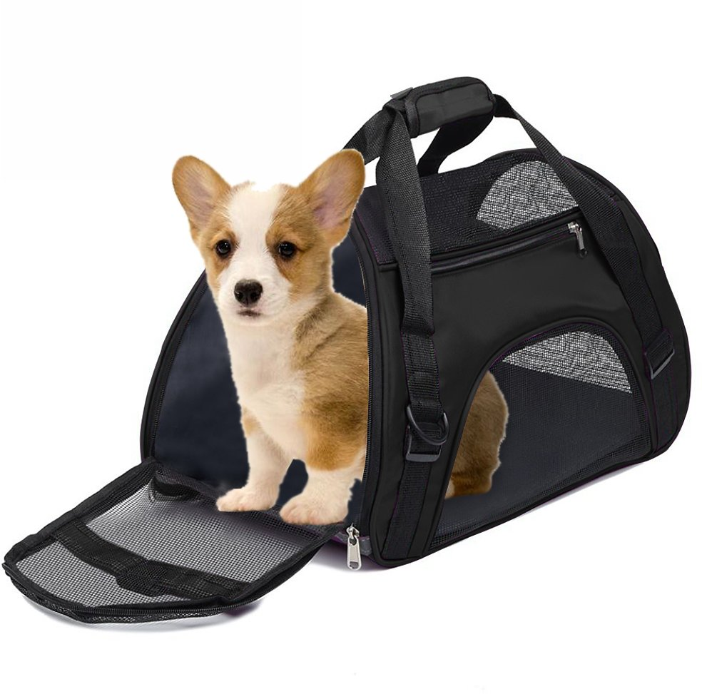 LBLA Pet Carrier Soft Side Carrier for Small Cats and Dogs Airline Approved Portable Pet Travel Bags