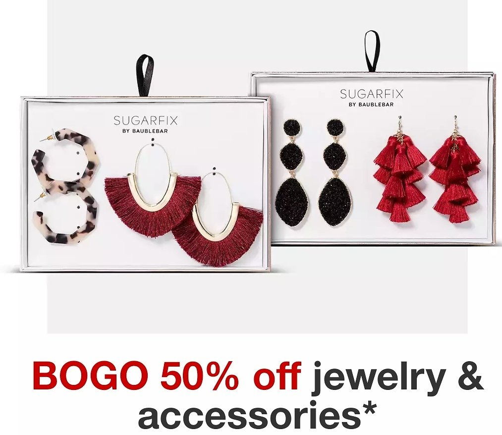 Buy 1 Get 1 50% Off Jewelry & Accessories