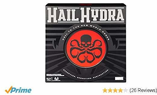 Prime Members: Hail Hydra, MARVEL Hero Board Game for Teens and Adults Aged 14 and Up