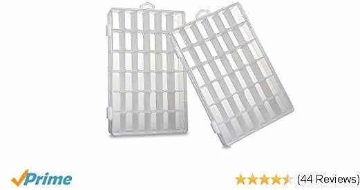 Lighting Plastic Storage Containers,Plastic Storage Organizer Box for Bead Box Tackle Boxes Jewelry Organizers