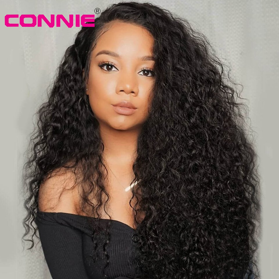 13x4 Lace Front Wig With Baby Hair Brazilian Remy Curly Human Hair Wigs For Black Women 150% Density