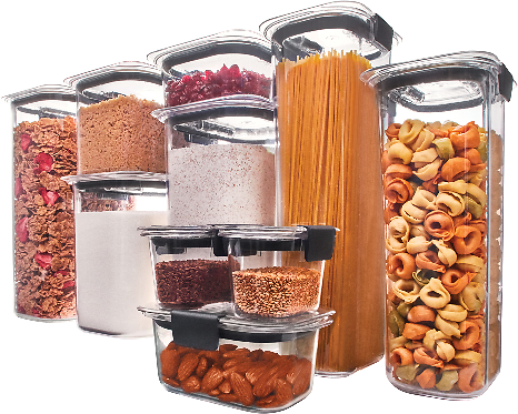 20-Piece Set Rubbermaid Brilliance Pantry Airtight Food Storage Container
