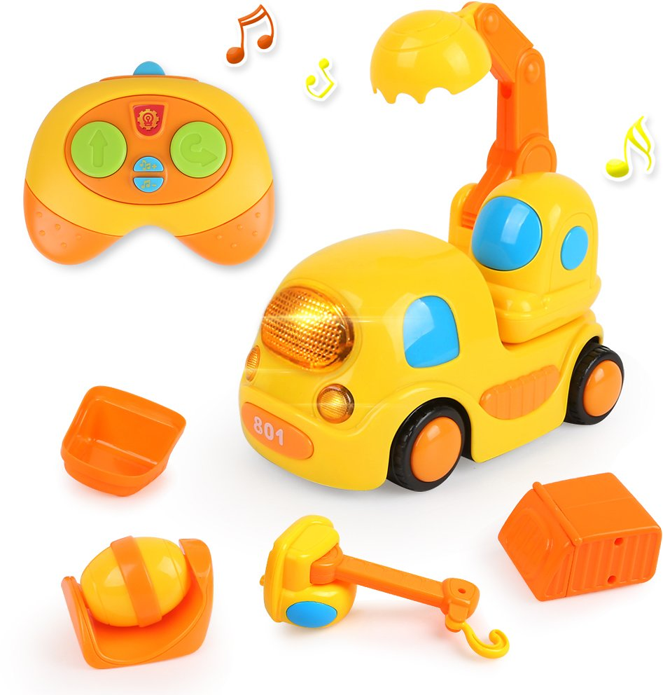 Remote Control Car Toys for 2 Year Old Boys Girls  with Music and Lights