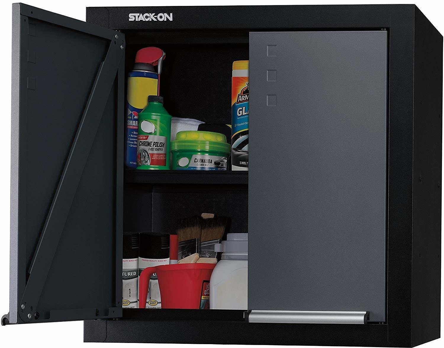 STACK-ON 2-Door, Wall-Mounted, All-Steel Garage Cabinet