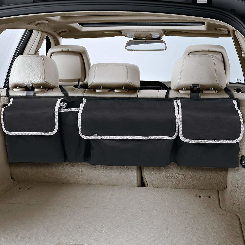 LBLA Backseat Trunk Organizer, Auto Hanging Seat Back Storage Organizer for SUV and Many Vehicles - Free Your Trunk Space