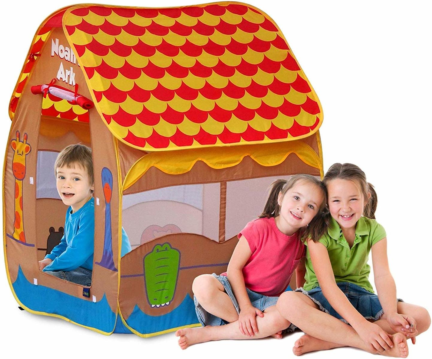 Gigatent Noah's Ark Pop-up Play Tent With Roll-up Windows & Doors