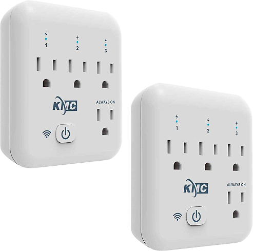 Smart plug, KMC 4 Outlet Energy Monitoring Wifi Outlet Compatible with Alexa