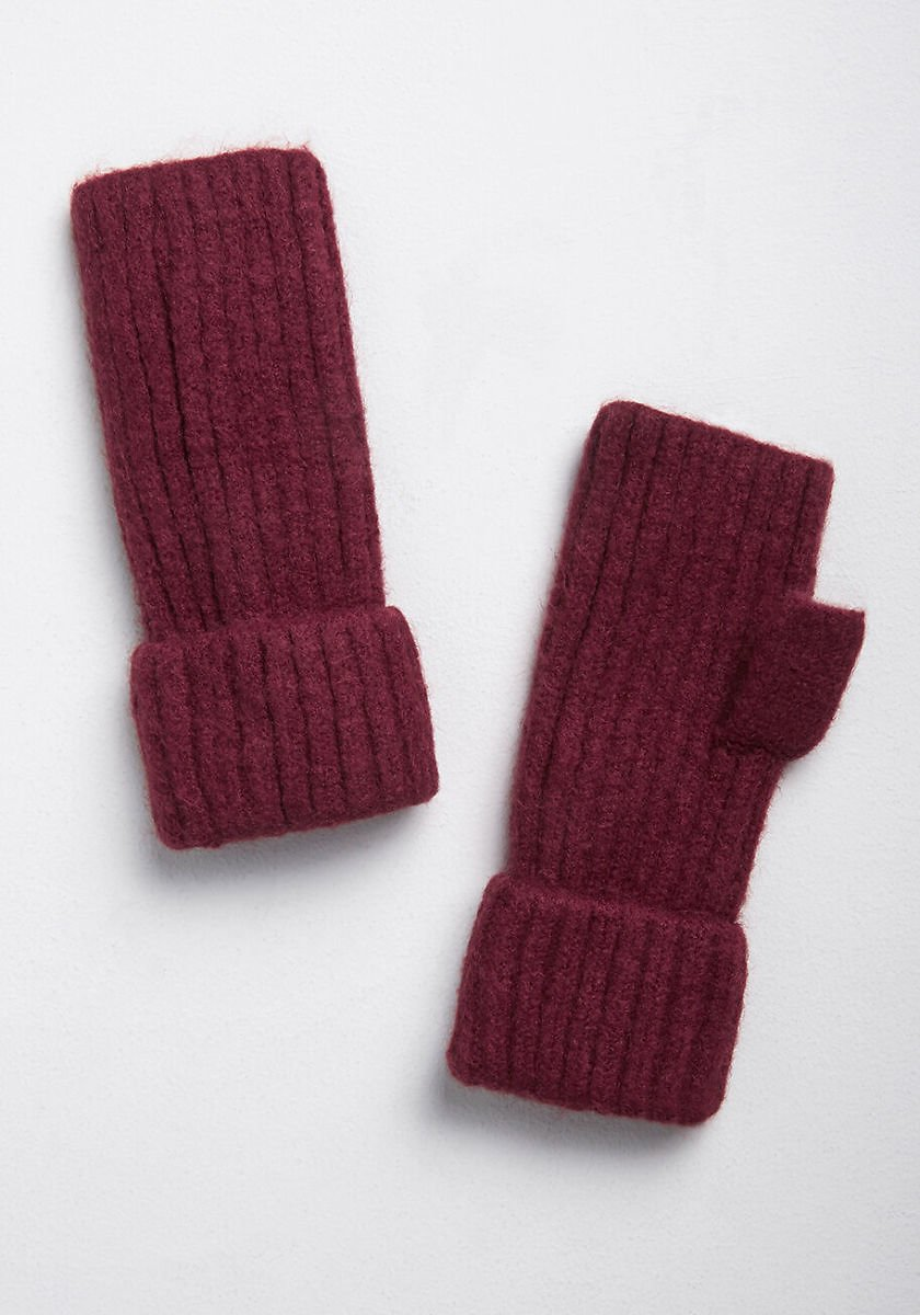 Cozy State Ribbed Fingerless Gloves