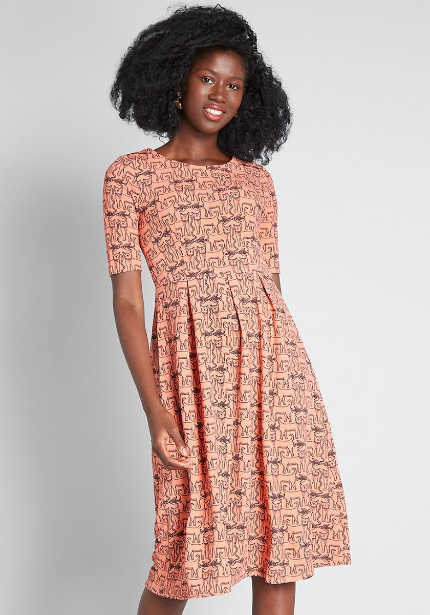 Pawsome Memories A-Line Dress