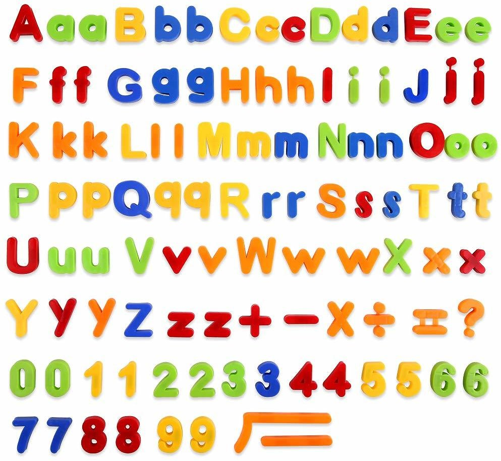 Baobë 106PCS Magnetic Letters & Numbers for Toddlers Early Learning Toy Gift for Kids Classroom