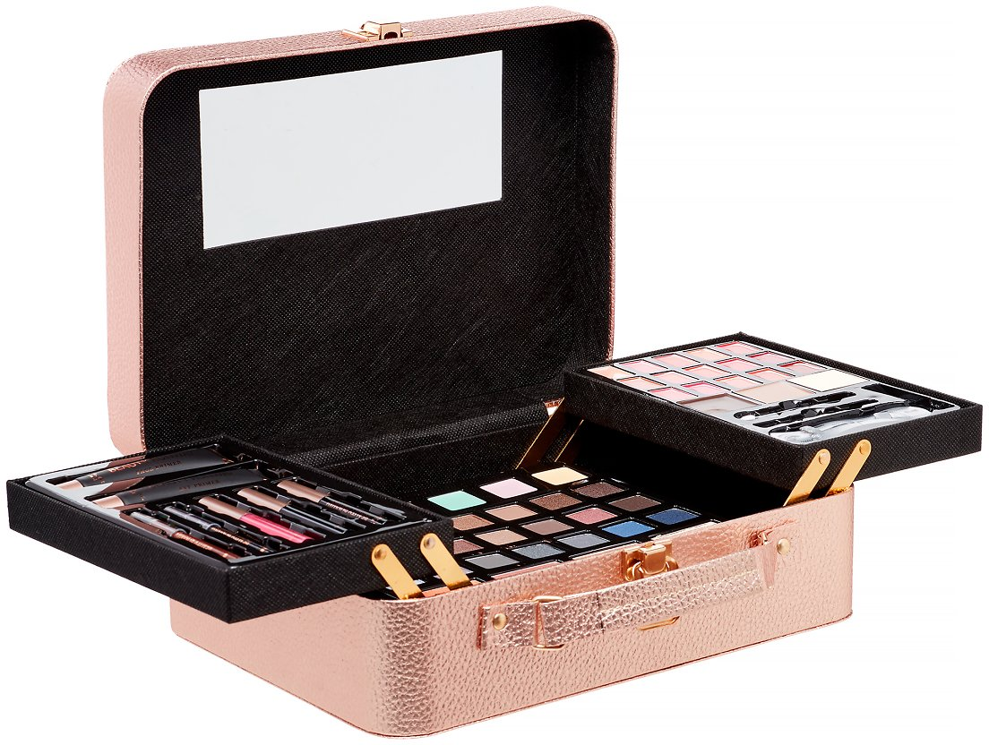 Beauty Runway 61Pc Cosmetic Set, Rose Gold ($50 Value)
