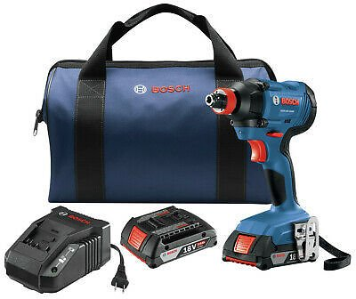 Bosch GDX18V-1600B12-RT 18V 1/4 In. and 1/2 In. Impact Driver Kit