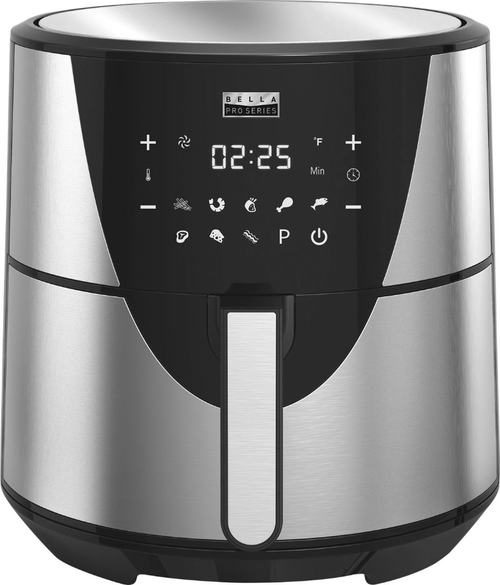 Today Only! Bella  PRO Series 8qt Digital Air Fryer  Stainless Steel + F/S