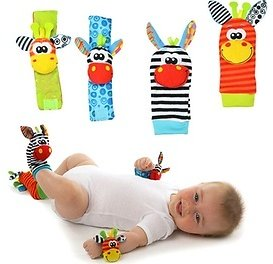 Extra 40% Off Kids Socks and Wrist Rattle Toys (4-Piece)